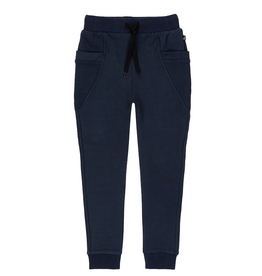 Deux Par Deux French Terry Jogger Sweatpants in Dress Blue