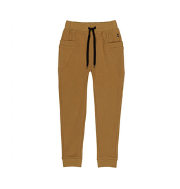 Deux Par Deux French Terry Jogger Sweatpants in Beige