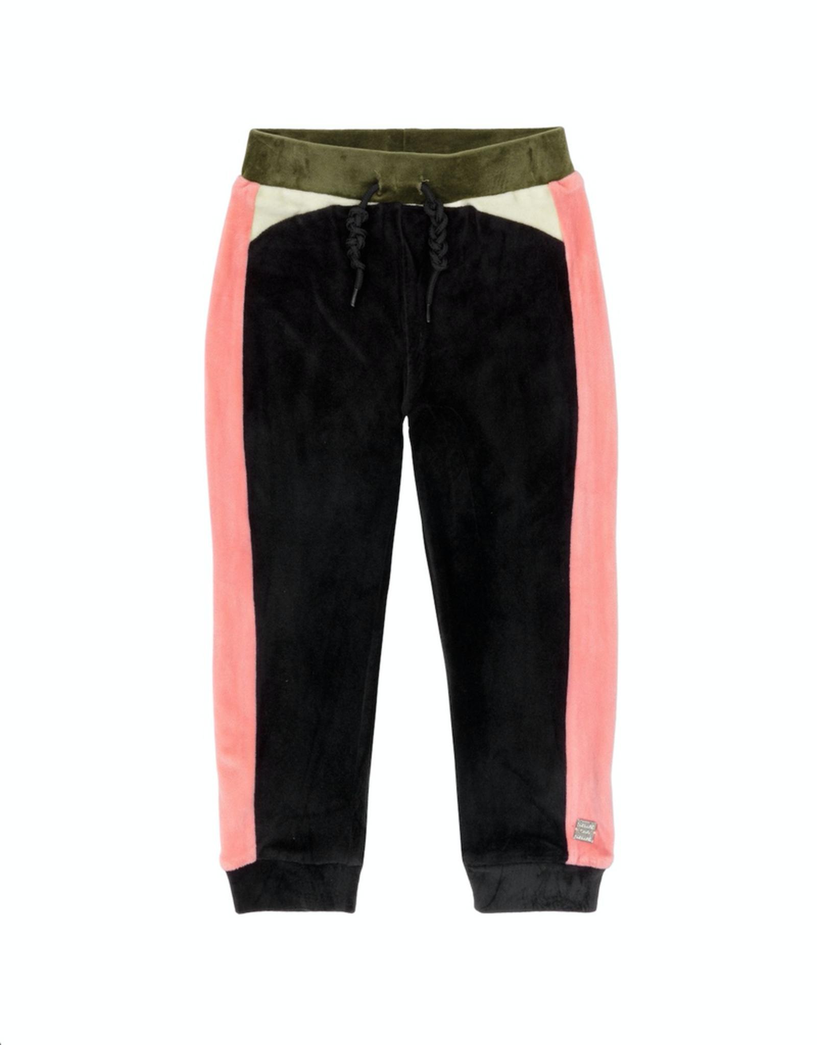 Deux Par Deux Multicolor Velvet Jogger Pants