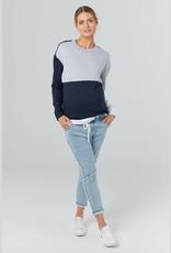 Legoe Heritage Nation Sweater in Navy Grey & White