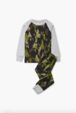 Hatley Forest Camo Organic Cotton Raglan Pajama Set