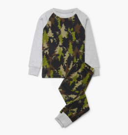 Hatley Forest Camo Organic Cotton Raglan Pajama Set
