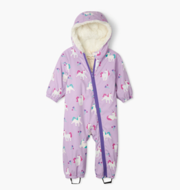 Hatley Playful Unicorns Sherpa Lined Colour Changing Baby Bundler
