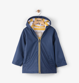Hatley Navy with Yellow Stripe Lining Splash Jacket