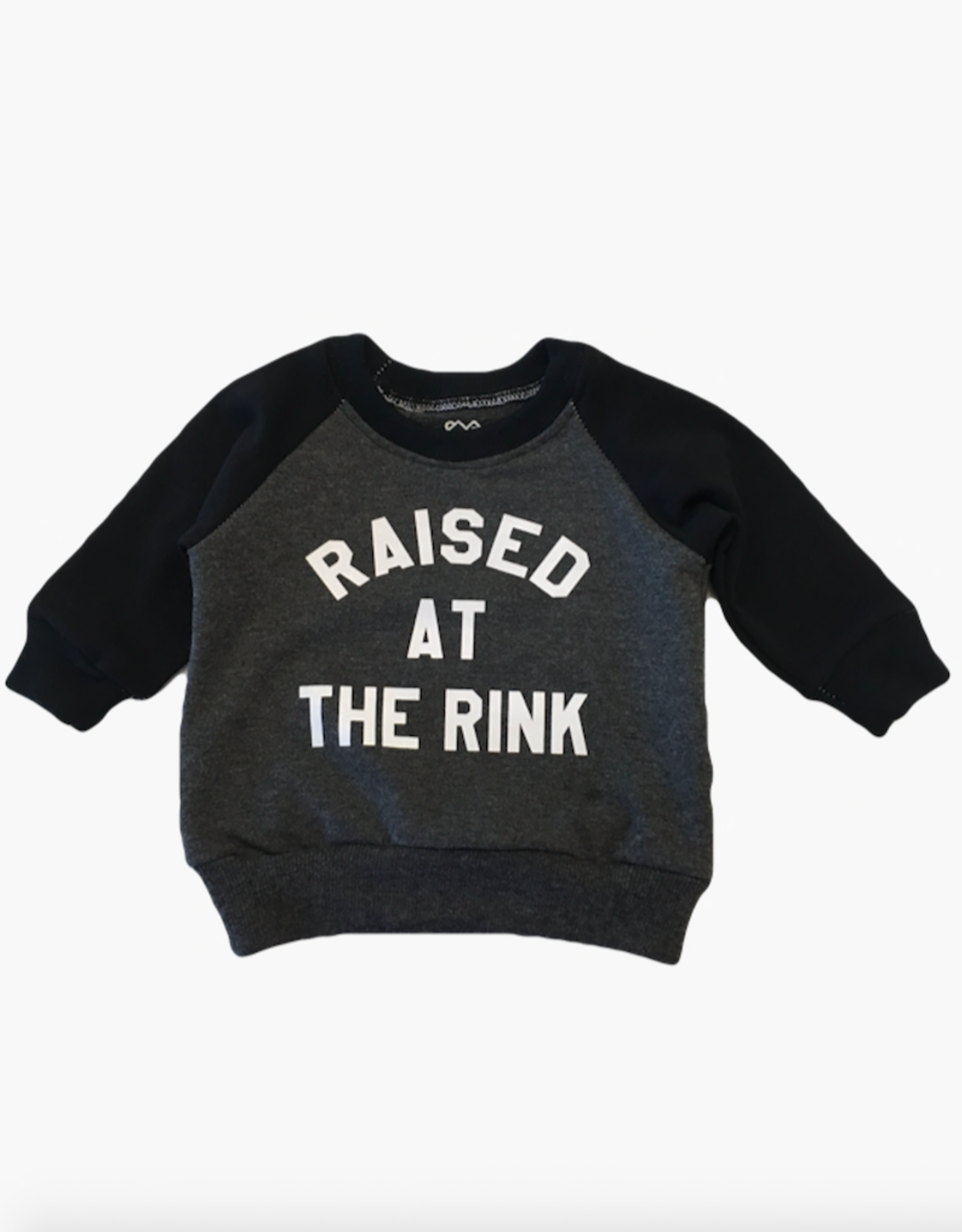 Portage & Main Raised at the Rink Sweatshirt in Charcoal/Black