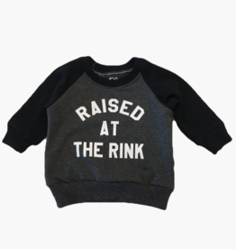 Portage & Main Youth Raised at the Rink Sweatshirt in Charcoal/Black