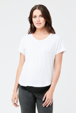 Ripe Maternity Bowie Short Sleeve Tee in White