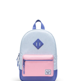 Herschel Supply Co. Heritage Backpack | Kids, Ballad Blue Pastel Crosshatch/Candy Pink/Dusted Peri, 9L