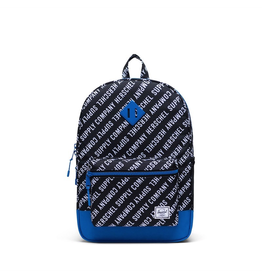 Herschel Supply Co. Herschel Supply, Heritage Backpack | Youth XL, Roll Call Black/White/Lapis Blue, 22L
