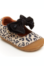 Striderite Esme Leopard Print Mary Jane with Bow