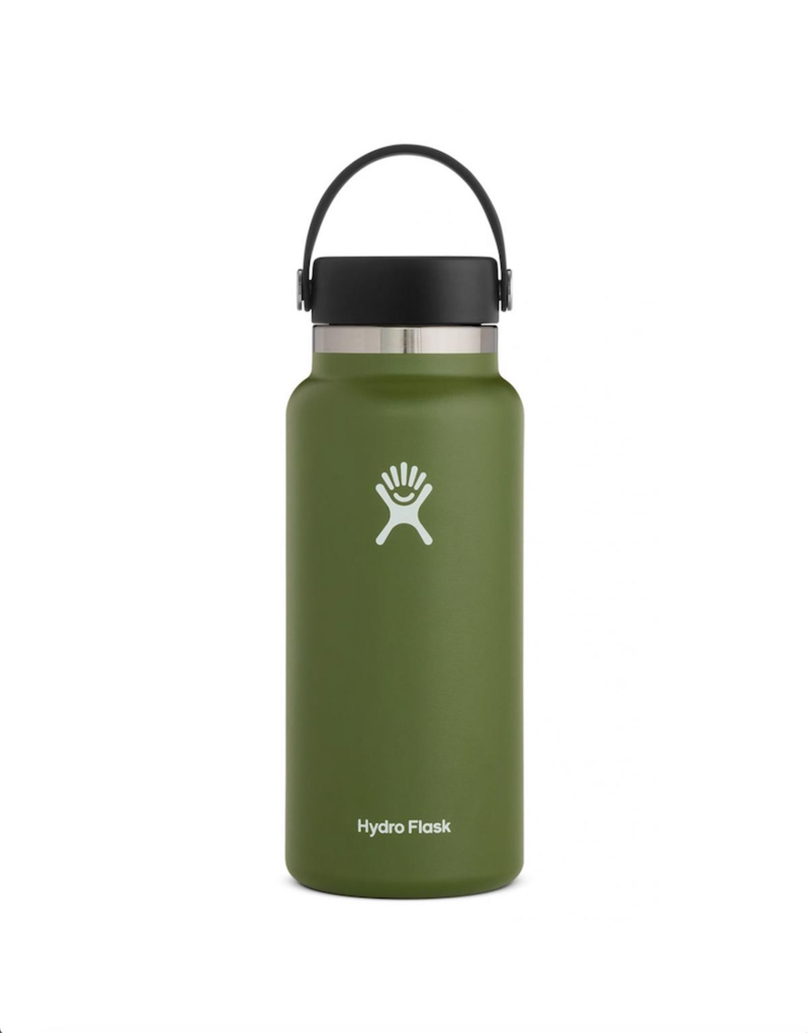 Hydro Flask 32 oz Wide Mouth Flex Cap Bottle in Olive