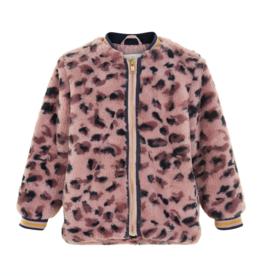 Creamie Leopard Fur Jacket