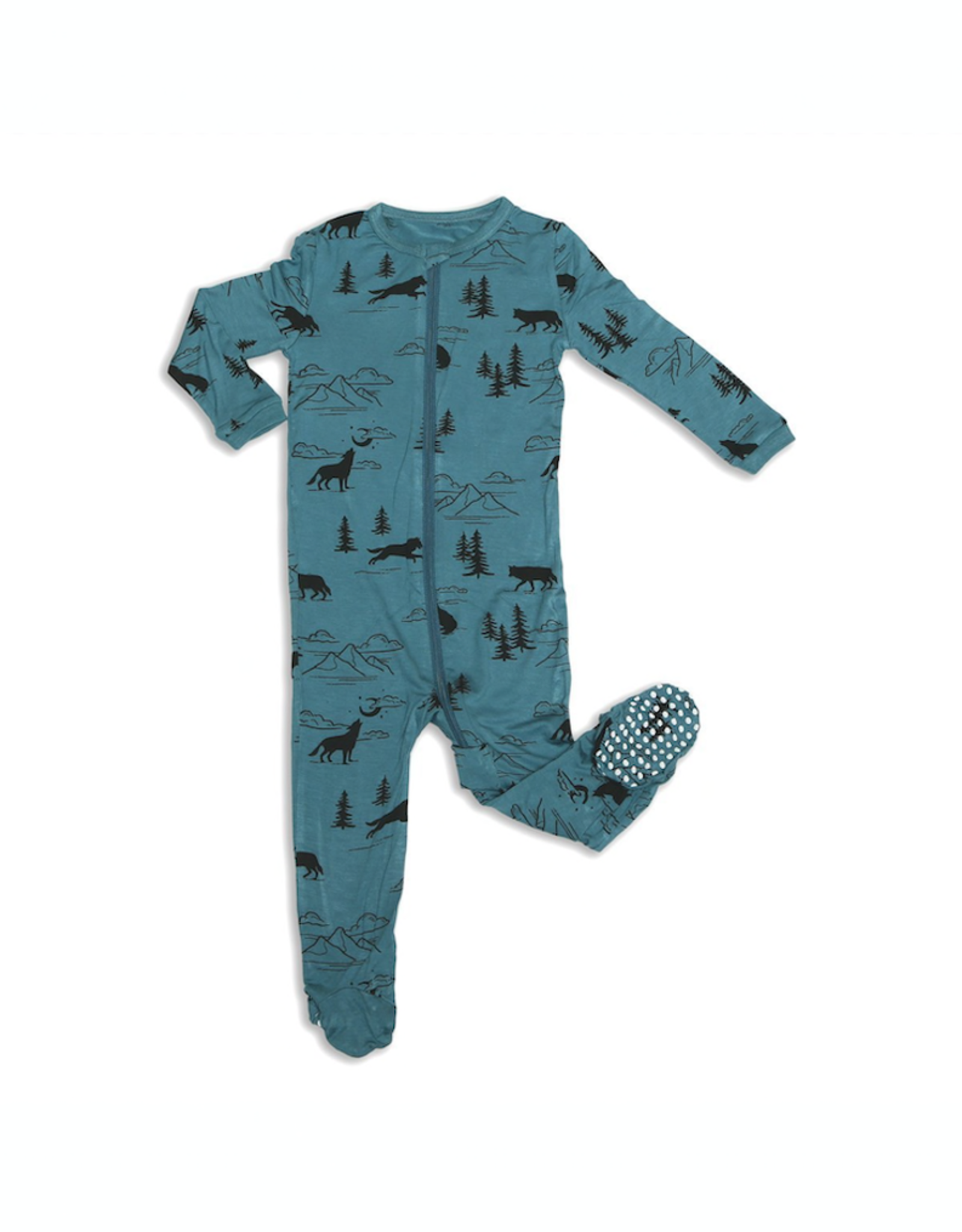 Silkberry Baby Silkberry Baby, Bamboo Zip-up Footed Sleeper, Call of the Wild Print