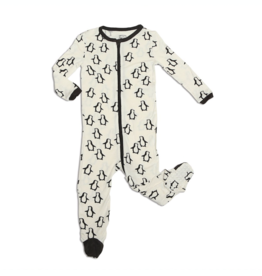 Silkberry Baby Silkberry Baby, Bamboo Zip-up Footed Sleeper, Penguin Waddle Print