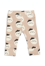 Silkberry Baby Silkberry Baby, Organic Cotton Elastic Cuff Jogger, French Cat Print