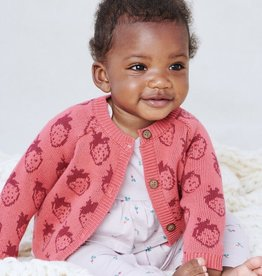 Tea Collection Fresh Fresas Icon Baby Cardigan