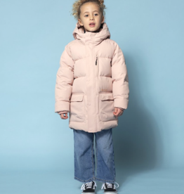 Go Soaky Tiger Eye Puffer Jacket In Evening Pink