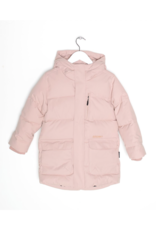 Go Soaky Tiger Eye Unisex Puffer Jacket In Evening Pink