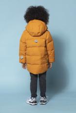 Go Soaky Tiger Eye Unisex Puffer Jacket In Inca Gold