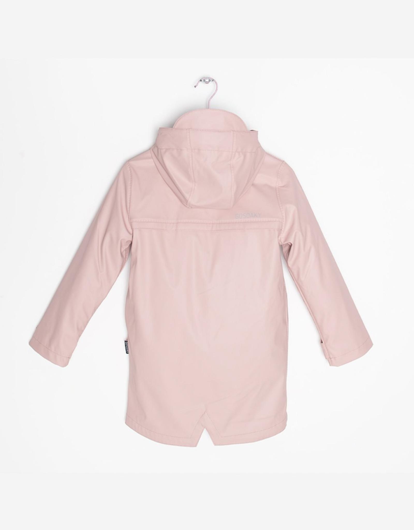 Go Soaky Lazy Geese Raincoat Unisex Lined Raincoat in Evening Pink