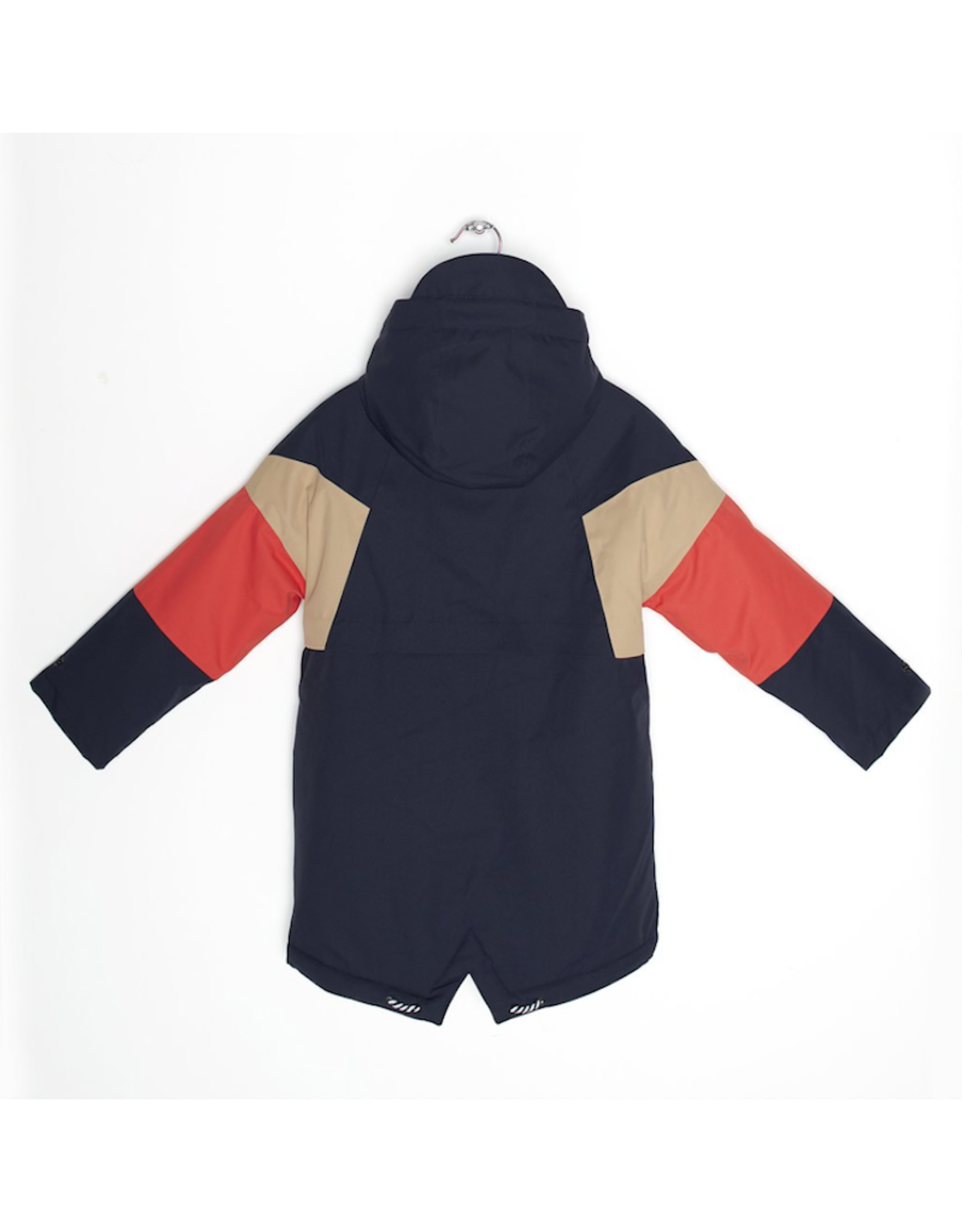 Go Soaky Dessert Fox Waterproof Lined Parka in Mood indigo / Candied Ginger / Spicy Red