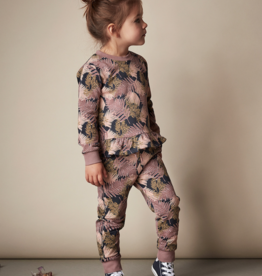 Creamie Fern Print Pants in Twilight Mauv