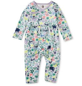 Tea Collection Andean Animals Wrap Neck Romper