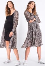 Seraphine Indira Animal Print Midi Maternity Dress