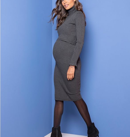 Seraphine Charlize, Ribbed Knit Maternity & Nursing Dress