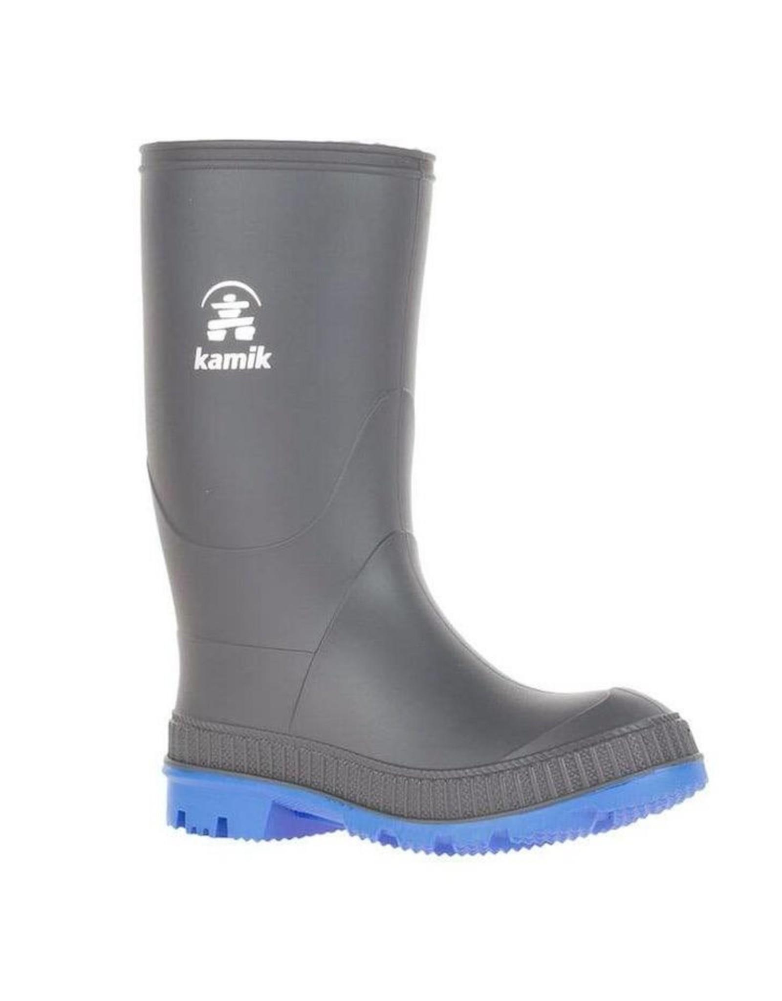 Kamik STOMP Kids Rainboots Charcoal & Blue