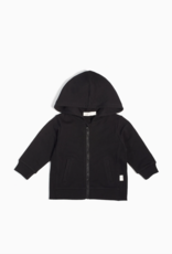 """Miles Basic"" Black Baby Zip Up Hoodie"