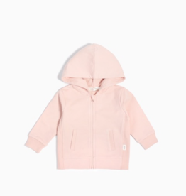 """Miles Basic"" Pink Zip Up Hoodie"