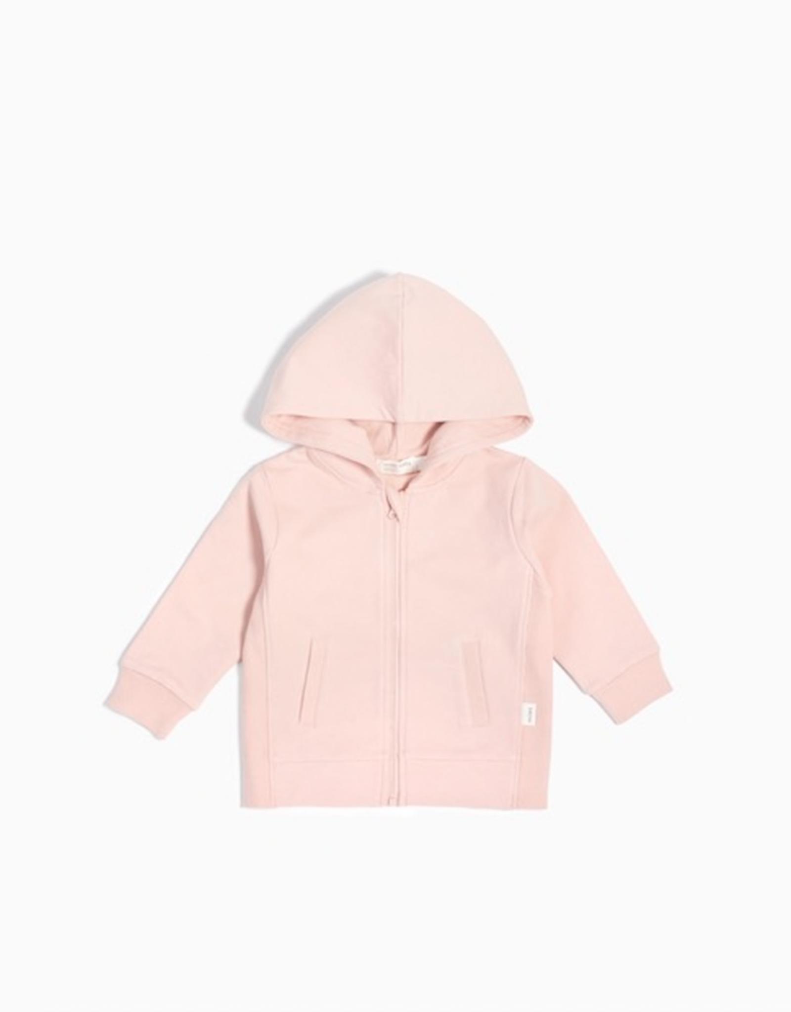 """""""Miles Basic"""" Pink Baby Zip Up Hoodie"""