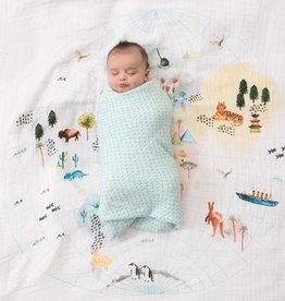 "Aden + Anais Around the World 47"" Single classic swaddle"