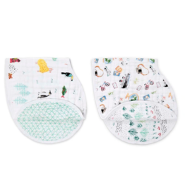 Aden + Anais Around the World classic burpy bibs 2 pack