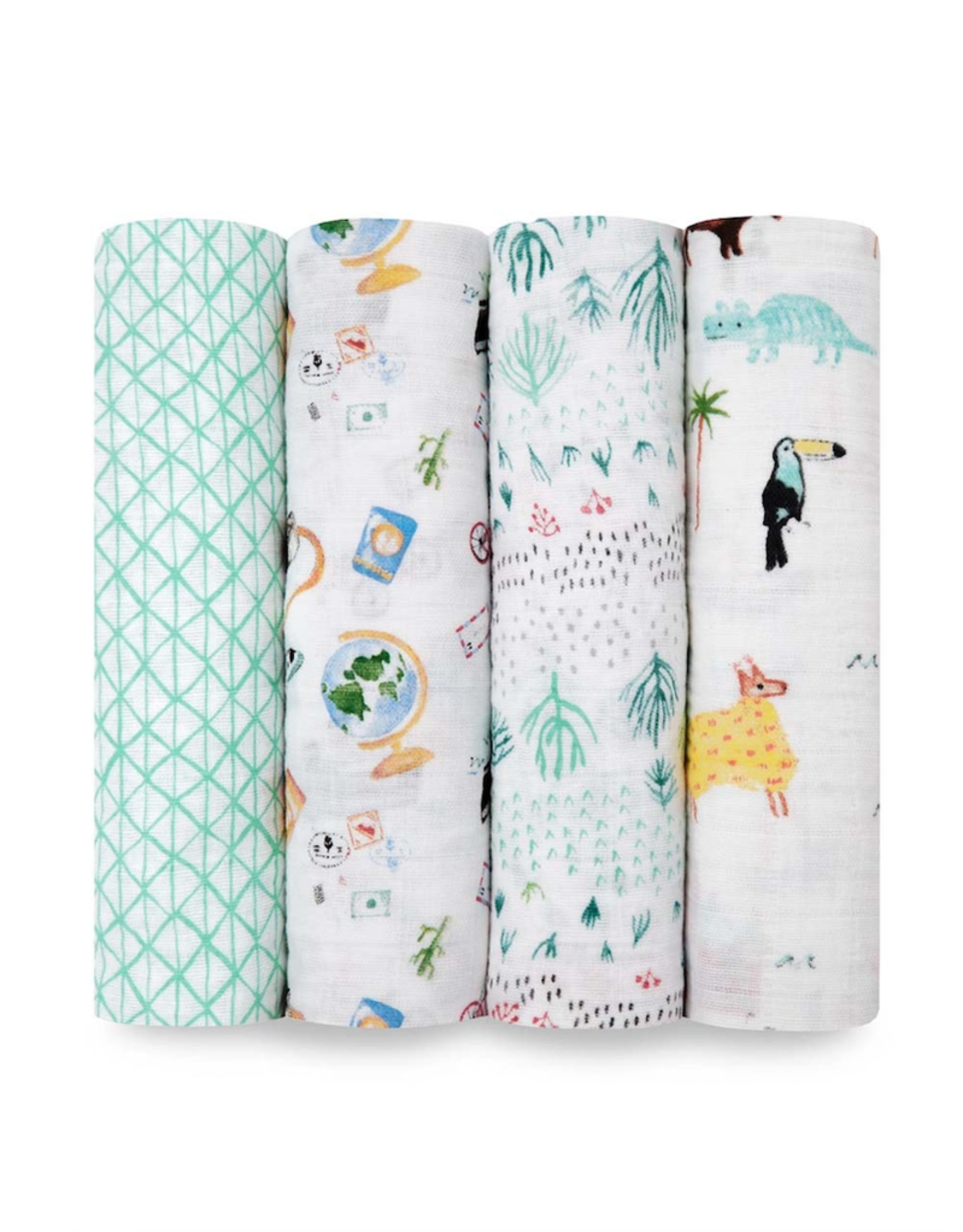 """Aden + Anais Around the World 47"""" classic swaddle set 4-pack"""
