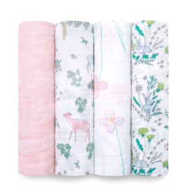"Aden + Anais forest fantasy 47"" classic swaddle set 4-pack"