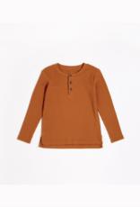 Autumn Brown Modal Rib Henley Top