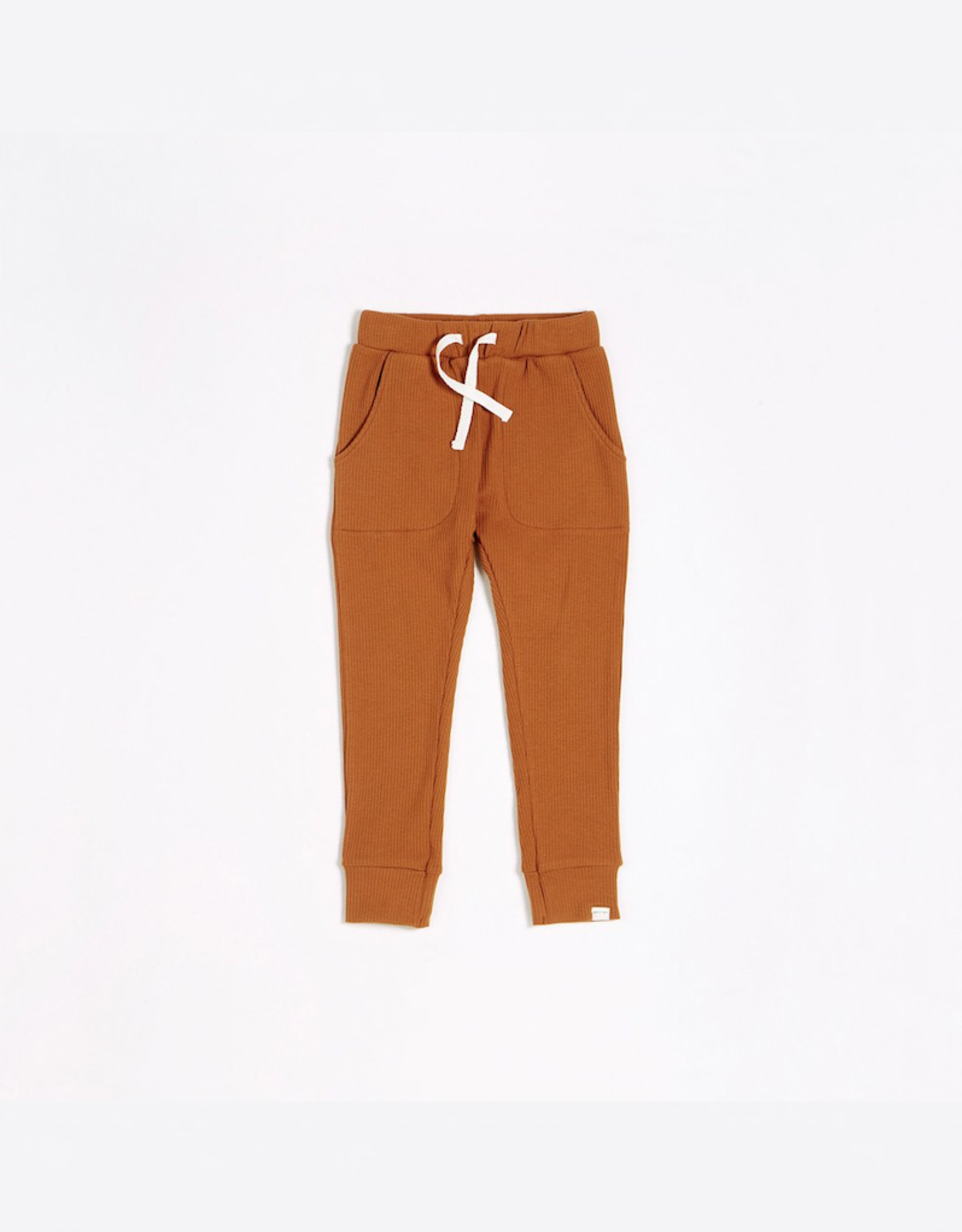 Autumn Brown Modal Rib Jogger