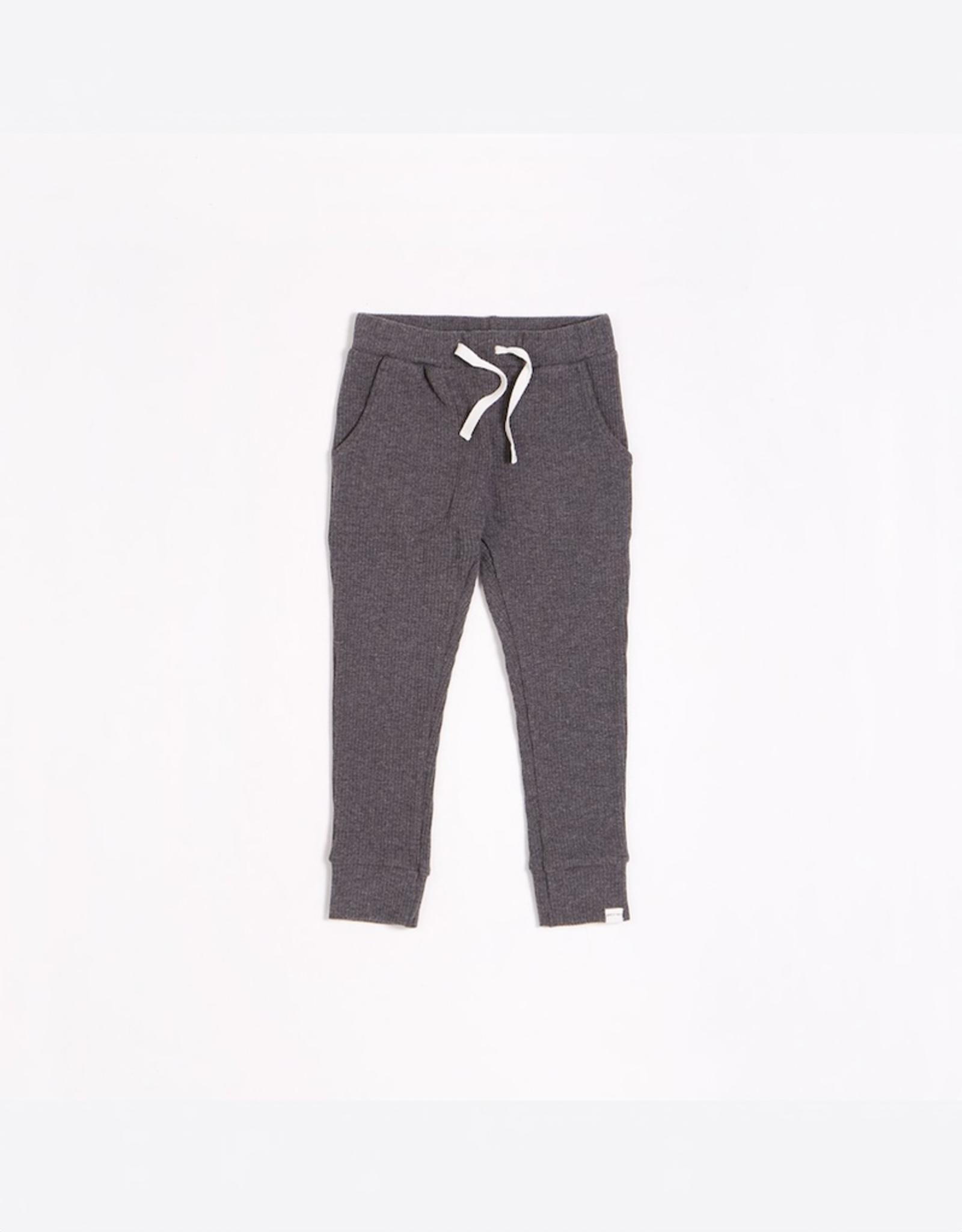 Dark Grey Modal Rib Jogger
