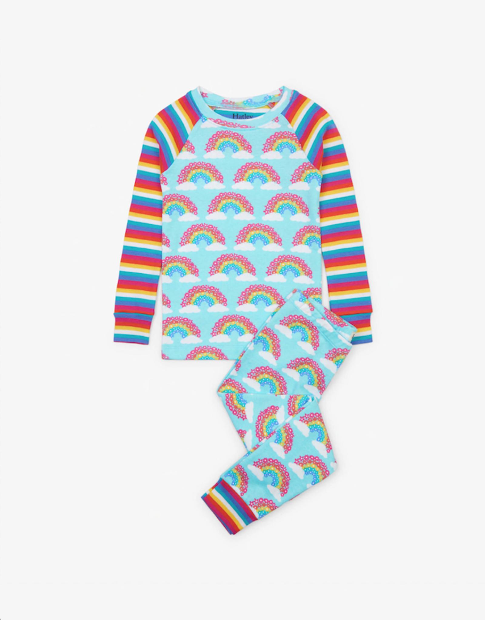 Hatley Rainbow Unicorns Organic Cotton Raglan Pajama Set