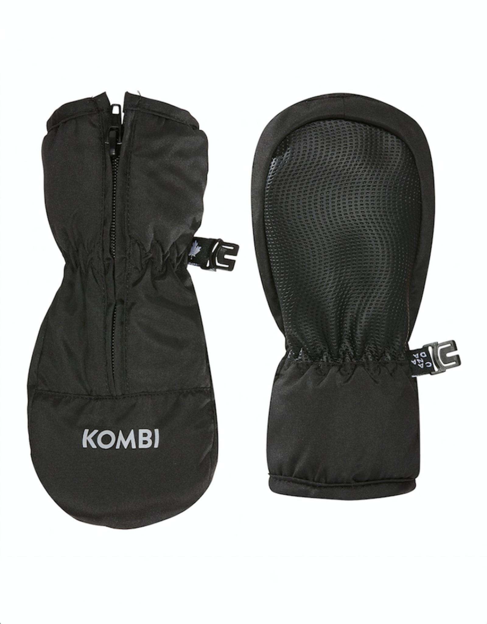 Kombi Glee Full-Zipped Infant Mittens in Black