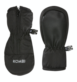 Kombi Glee Full-Zipped Infant Mittens in Black
