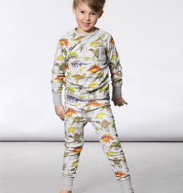 Deux Par Deux Dinos Pajama Set