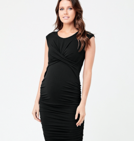 Ripe Maternity Cross My Heart Dress, Black