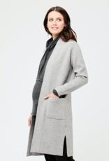 Ripe Maternity Cowl Neck Maternity & Nursing Knit Sweater, Silver Marle