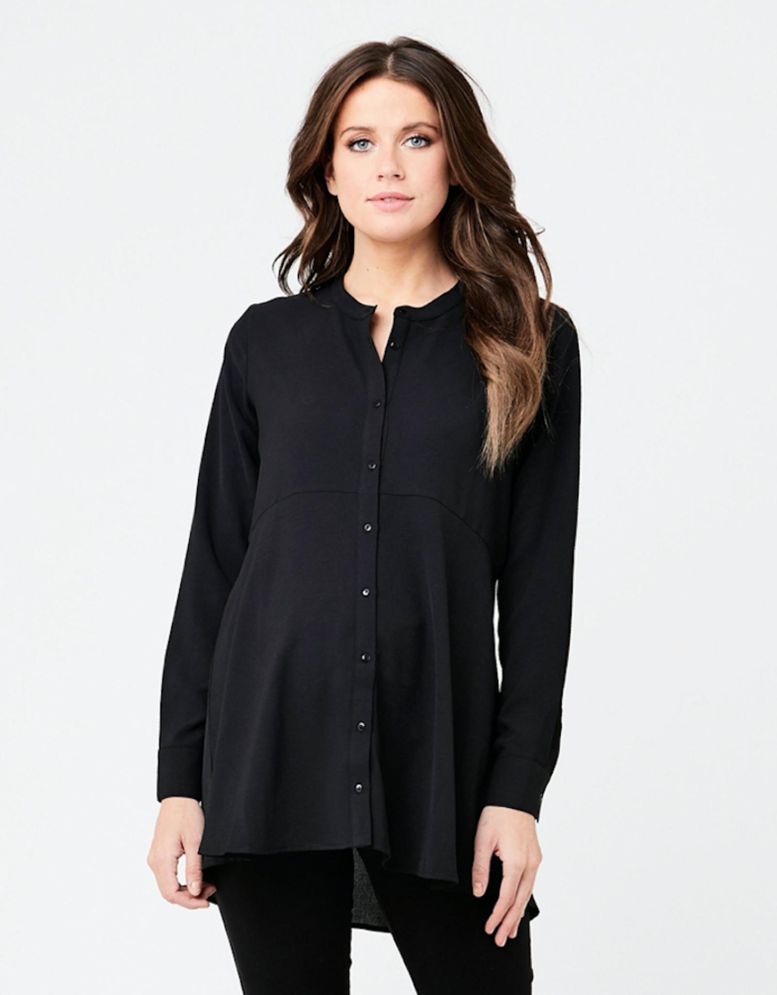 Ripe Maternity Peplum Shirt, Black