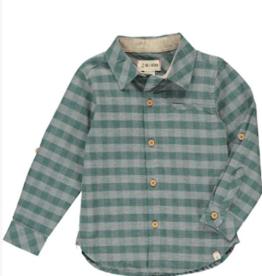 Me & Henry Green/Grey Plaid Shirt