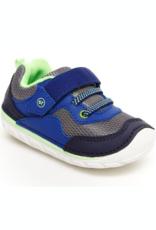 Striderite Soft Motion Rhett Sneaker in Navy/Lime