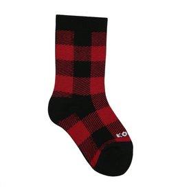 Kombi The Lodge Jr Socks Red Buffalo Plaid